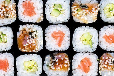 Sushi: 92mcg of iodine per 100g roll