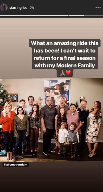 Rico Rodriguez shares Instagram post.