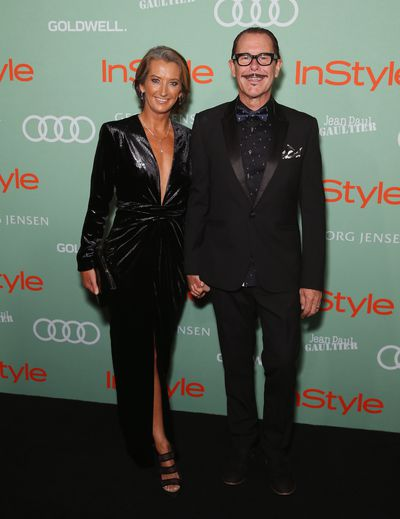 Kirk Pengilly and Layne Beachley in Carla Zampatti at the 2018 <em>InStyle and Audi Women of Style</em> awards