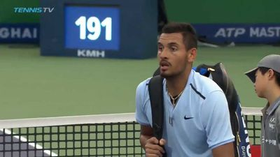 Nick Kyrgios beaten in ATP European Open following Shanghai meltdown