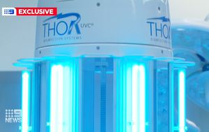Coronavirus: Sydney hospital using 'Thor' robot cleaner to fight off harmful superbugs