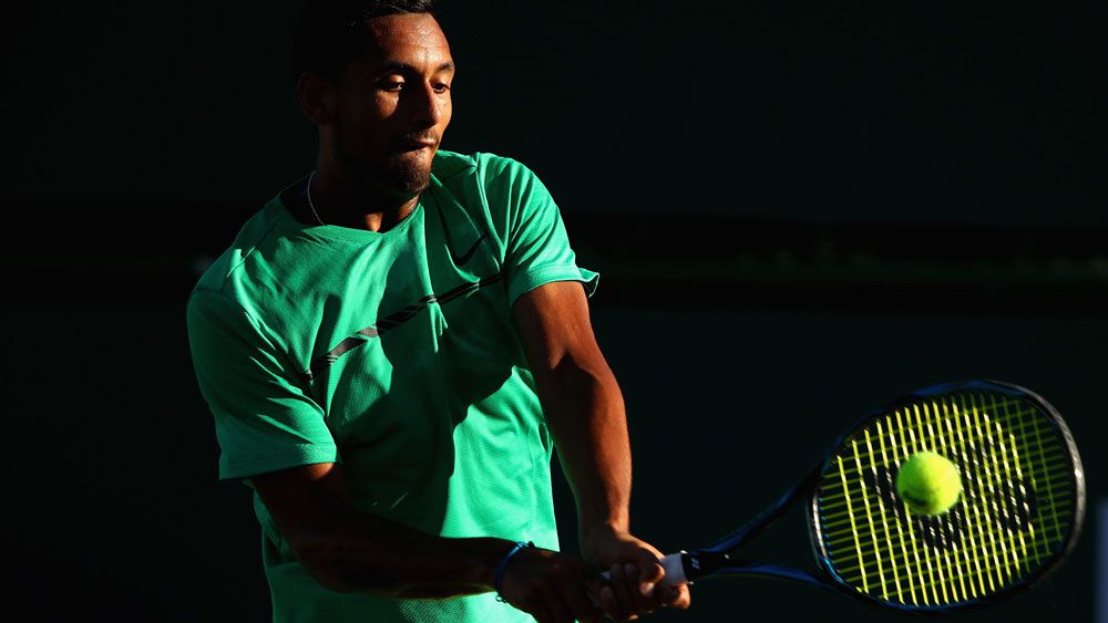 Nick Kyrgios shows off his talent rather than his temper at Indian Wells