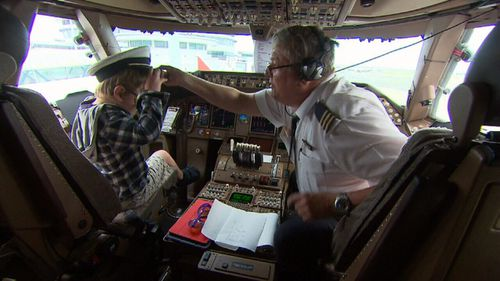 Hundreds of disabled and unwell kids hopped on a Boeing 747 for the flight of a lifetime. (9NEWS)