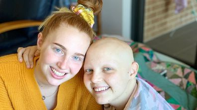 After hearing her dad crying, Molly turned to her sister and said 'I have cancer'.