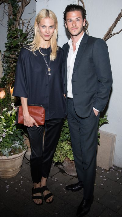 <p>Valade with actor&nbsp;Gaspard Ulliel at a screening party for 'Saint Laurent', in which he plays Yves Saint Laurent.</p>