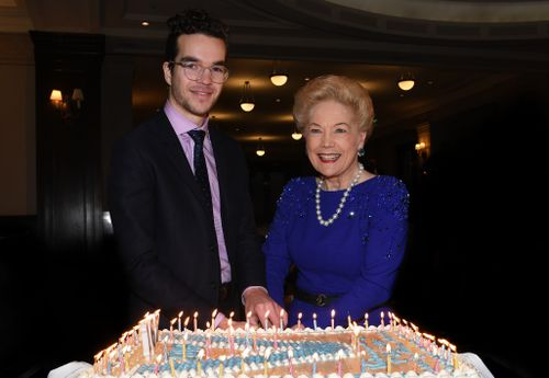 Mrs Alberti with Young Victorian of the Year, Daniel Poole. (AAP)