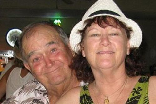 Helicopter crash victims Pete and Sue Hansel had 'never been happier'. (Supplied)