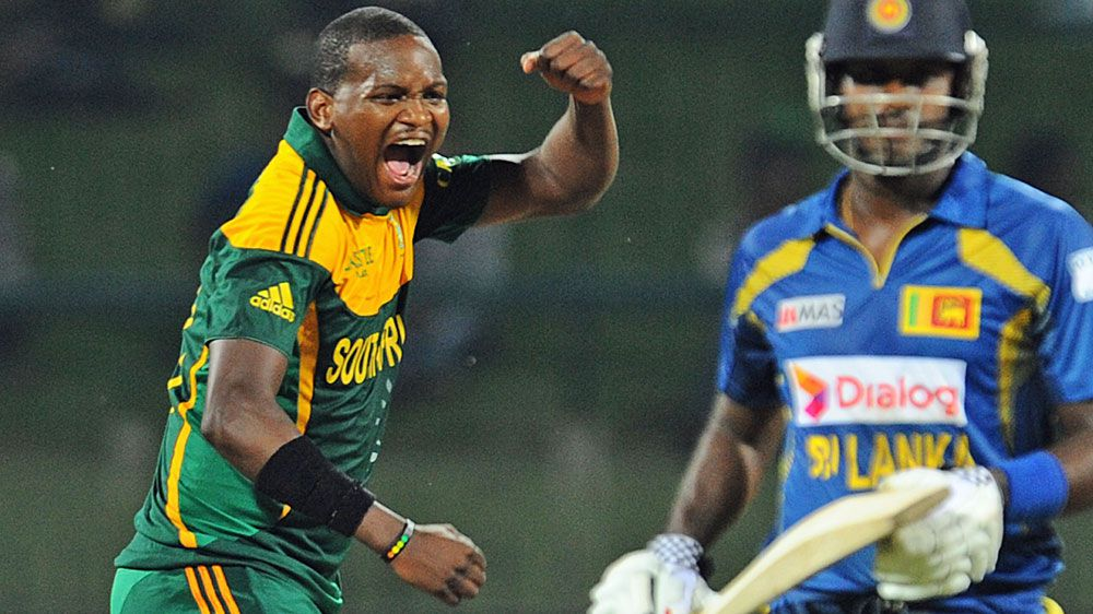 Lonwabo Tsotsobe in action for South Africa. (AFP-file)