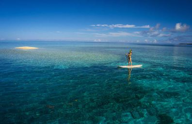 Go snorkelling or stand-up paddleboarding on Ishigaki Island's pristine west coast.