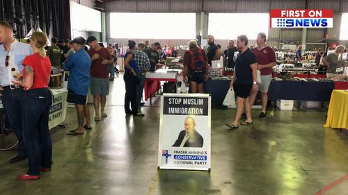 Senator Anning attended an Ipswich-based gun show yesterday.