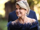 Julie Bishop attends the State Funeral for Carla Zampatti at St Mary's Cathedral on April 15, 2021 in Sydney, Australia.