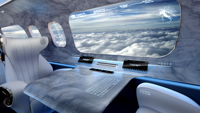 Rosen Aviation cabin design: The design also incorporates touchless technlogy.