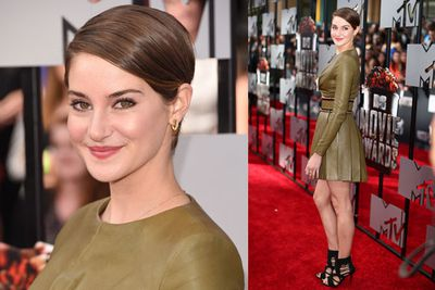 Fresh from her European press tour for <i>Divergent</i>, Shailene returns home to rock the red carpet in LA.