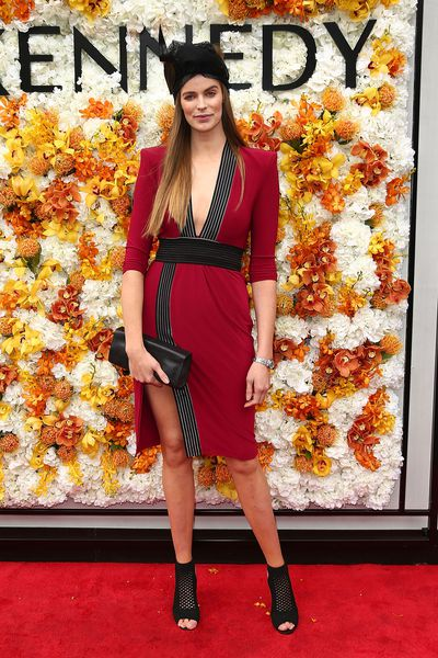 Robyn Lawley in a dress from Zhivago