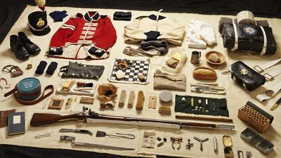 A private serving at the Battle of Waterloo in 1815 would have carried a range of equipment and personal items – notice the bayonet, which effectively replaced longswords as the primary close quarters killer.