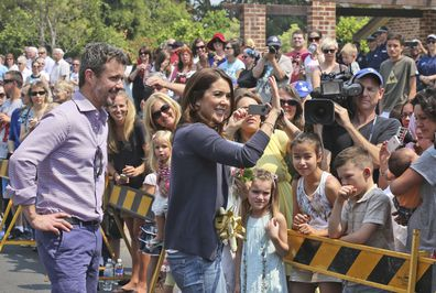 Princess Mary Crown Prince Frederik visit bushfires victims in Winmalee, in the NSW Blue Mountains, in 2013
