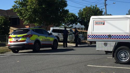 The child was in a pram when it was hit by a car. (9NEWS)