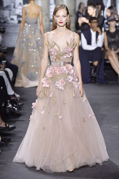 <p>Blushing bride</p> <p>Elie Saab, haute couture autumn/winter, '16/'17, Paris Fashion Week</p>