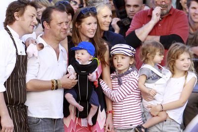 "Jamie Oliver and his gorgeous wife Jools have four kids: Buddy Bear, Poppy Honey, Daisy Boo and Petal Blossom. But the crazy baby names stop there! ""I sort of feel like we are just out of nappies now and I have got four kids and it's more than enough,"" Jamie said last year."
