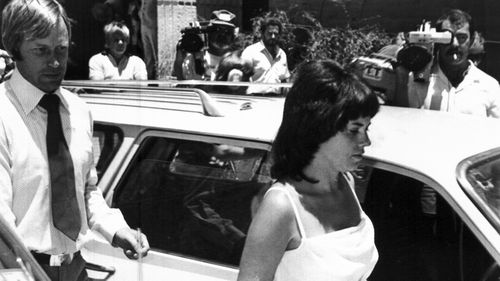 Michael and Lindy Chamberlain are pictured leaving a courthouse in Alice Springs, in 1982.