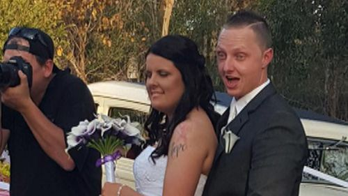 Tenille Eyles and Adam Bradley's special day took a violent turn. (9NEWS)