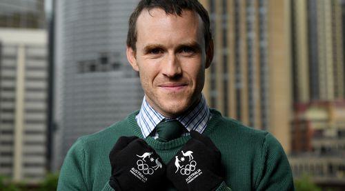David Morris win a silver medal at Sochi. (AAP)