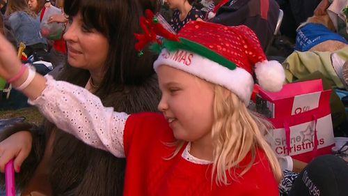 Crowds enjoy the carols. (Channel 9)