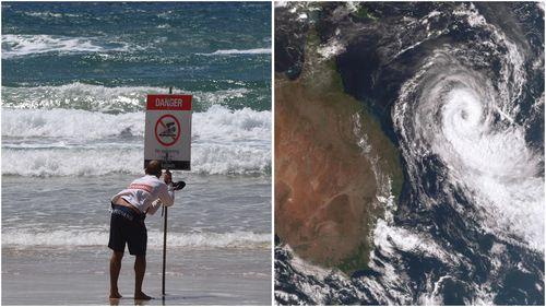 Beaches along Australia's east coast close as Cyclone Oma draws nearer.