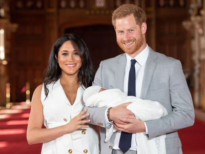 Baby Sussex is introduced to the world