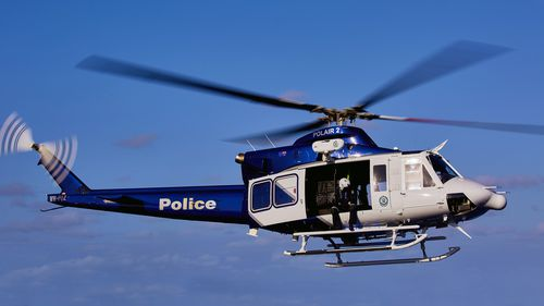 Polair and the Dog Squad were used to help locate two of the alleged offenders but police are still looking for a third man.