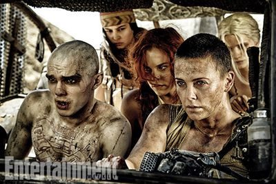 """<br/><br/>It's dusty, dirty and every bit as grimy as we could have imagined! Flick through the slides to check out the first images from 2015 <i>Mad Max</i> sequel <i>Fury Road</i>.<br/><br/>Featuring Charlize Theron as <i>G.I. Jane</i> look-alike Furiosa, Nicholas Hoult as Nux and Tom Hardy as Max.<br/><br/>(<i>Author: <b><a target=""""_blank"""" href=""""https://twitter.com/yazberries"""">Yasmin Vought</a></b></i>)"""