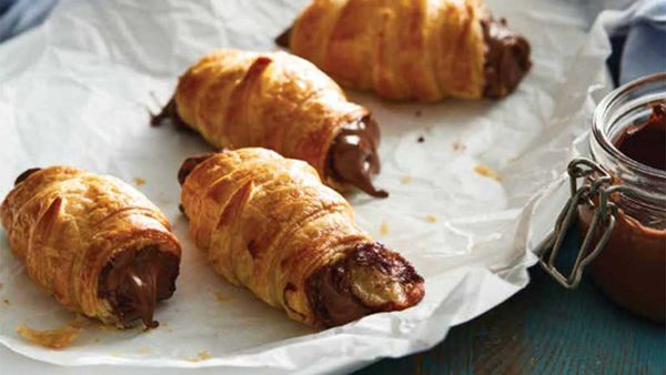 Nutella croissants. Courtesy of Delicious Creations with Nutella