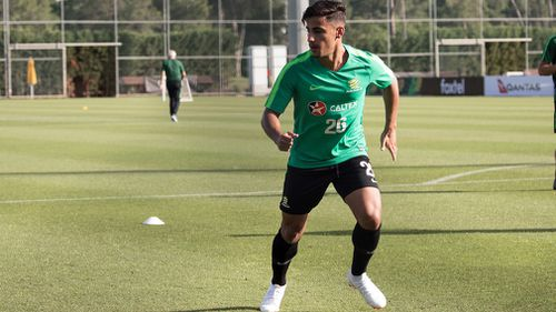 Teenager Daniel Arzani is set to become the youngest Socceroo to ever play at a World Cup, in just under two weeks' time. Picture: AAP.