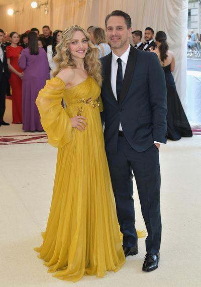 Actress Amanda Seyfried in Prada and actor boyfriend Thomas Sadoski