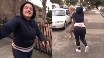 A woman was arrested after allegedly assaulting a 9News reporter on camera.