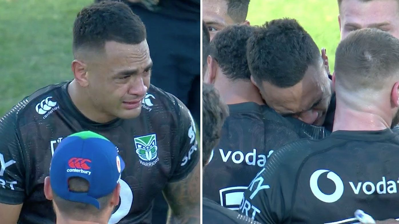 'The emotion bubbles over': Ken Maumalo reduced to tears in final game for Warriors