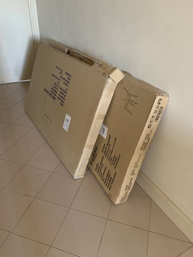 'The dining table arrived flat-packed. Damn.'