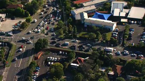The crash has caused major delays for morning commuters, with inbound lanes backed up for kilometres.