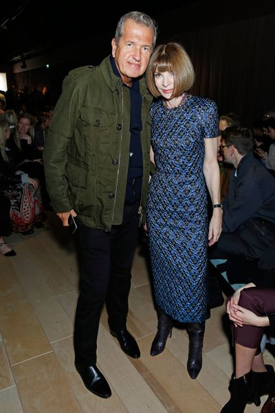 Mario Testino and Anna Winotur