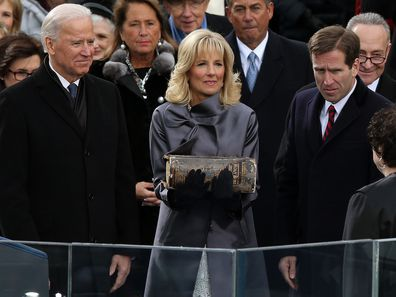 Joe, Jill and Beau Biden in 2013.