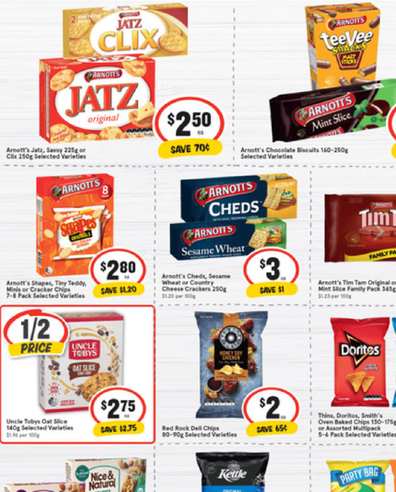 IGA has you covered for school snacks as well as after school.