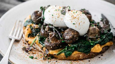 Monte Alto's shiro miso mushrooms on toast