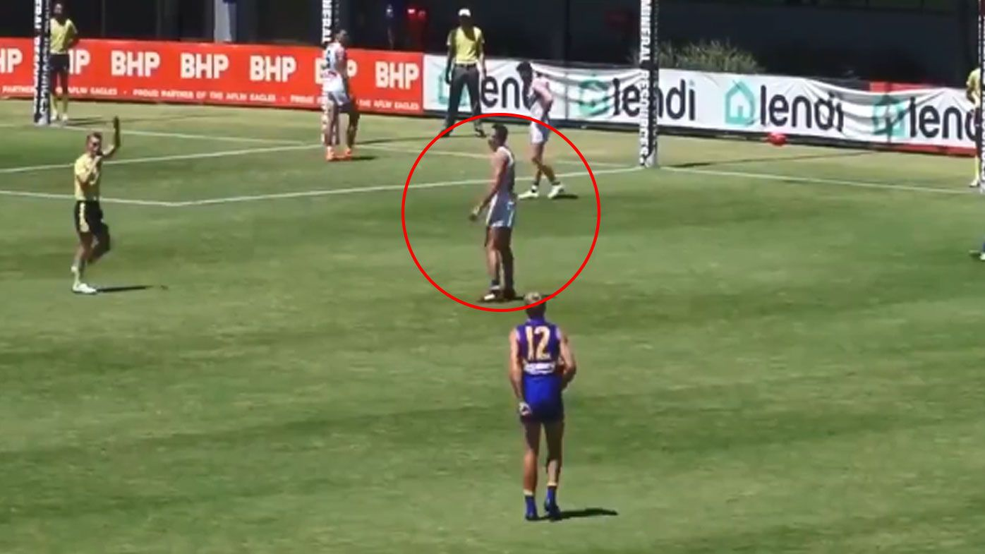 Controversial new AFL rule causes more confusion in new pre-season footage