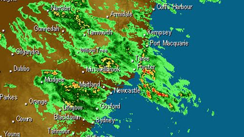 Central NSW and the area surrounding Newcastle was also inundated with rain yesterday as the freak storm passed (Weatherzone).
