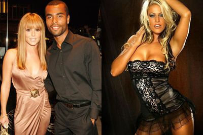 In 2010, Soccer star Ashley Cole sent sexy snaps of himself to topless model Sonia Wild...while married to then-wife Cheryl Cole. <br/><br/><i>The Sun</I> alleges that these included pics of a male torso and a white pair of briefs, alongside HUNDREDS of raunchy messages about his erm, rude bits. <br/><br/>Mistress Sonia Wild, also told the <i>Sunday Mirror</i> that Ashley would call her constantly, even offering to fly her to America while he was on tour there with soccer team Chelsea. <br/><br/>
