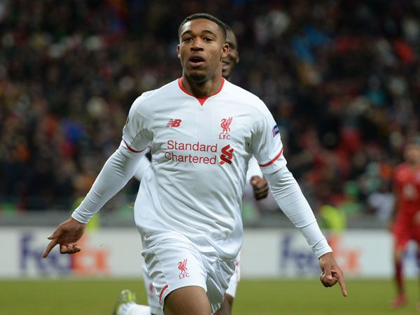 Jordan Ibe scores the only goal for Liverpool. (AFP)