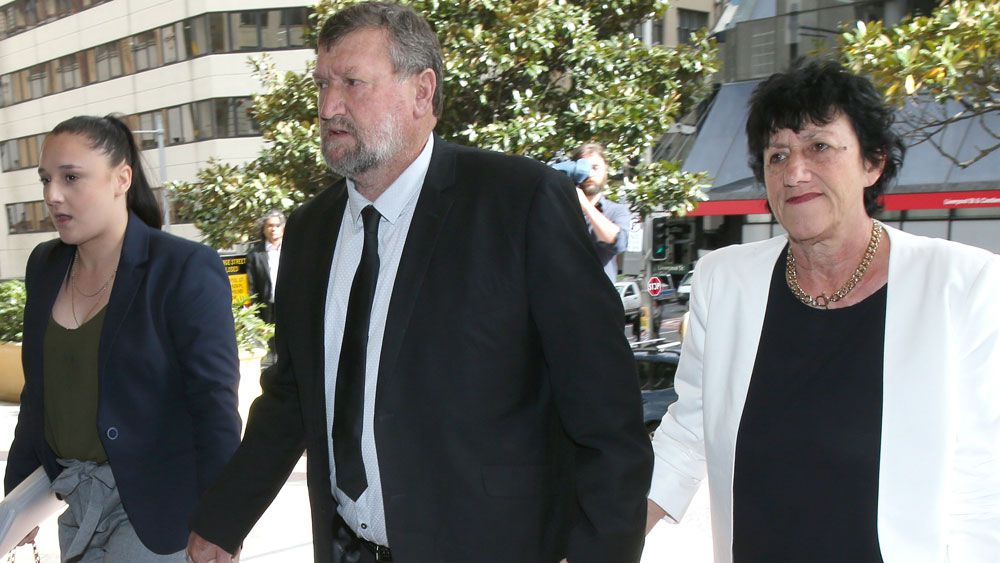Megan, Greg and Virginia Hughes attending the inquest into Phillip's death last month. (AAP)