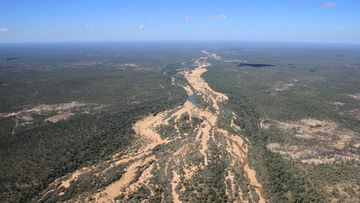 The Tate River during the dry season.