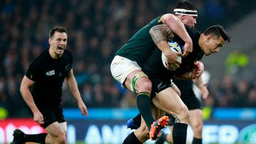 Sonny Bill Williams fights off a South African opponent. (Getty)