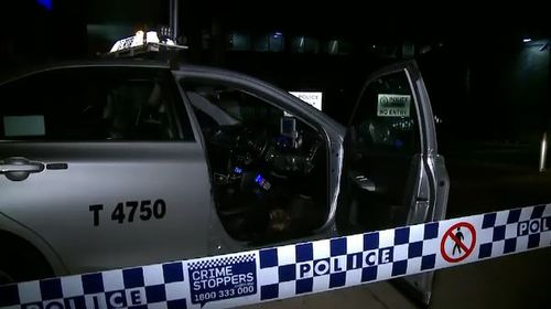 The cabbie drove himself to Ashfield police station to report the attack. Picture: 9NEWS